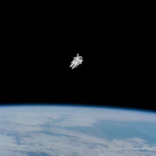 people man astronaut space gravity