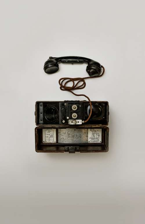 antique telephone communication talk white