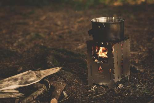 wood outdoor fire camping cooking