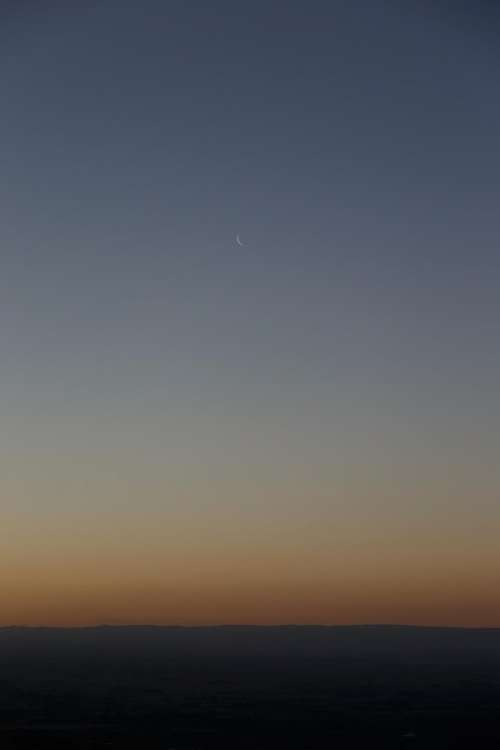 nature clouds sky sunset moon