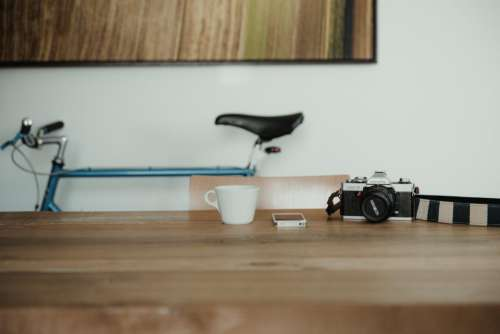 camera black photography bike cup