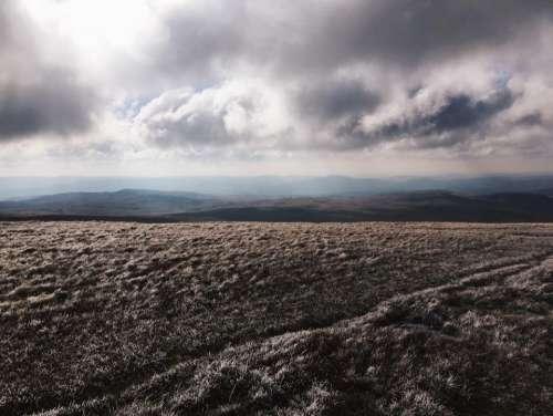 mountain sunny day field path