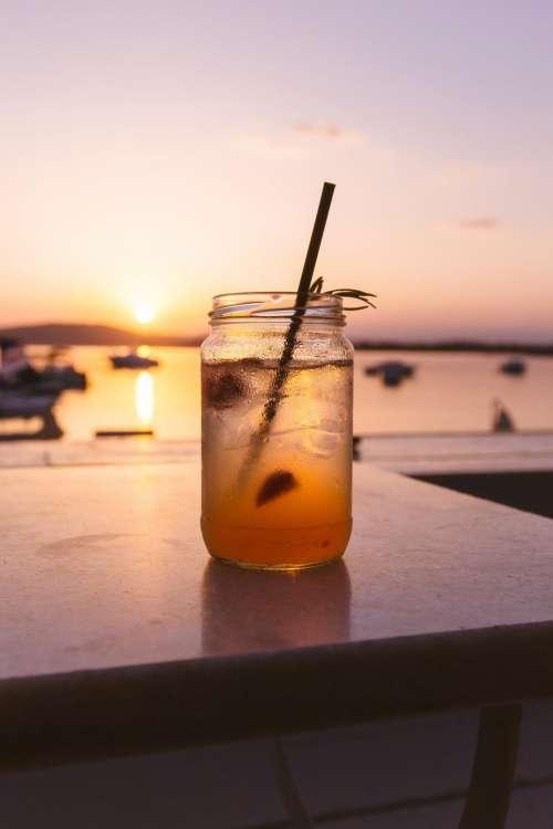 drink cold beverage glass jar
