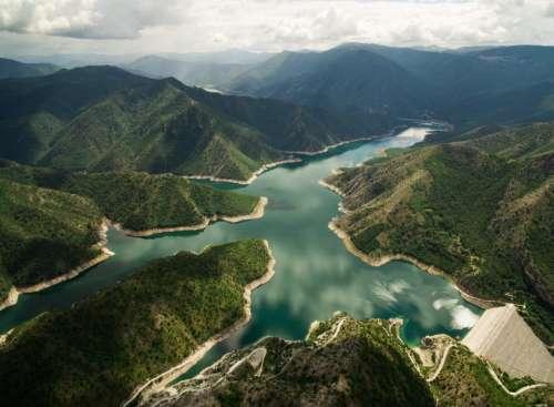 mountain highland landscape nature aerial
