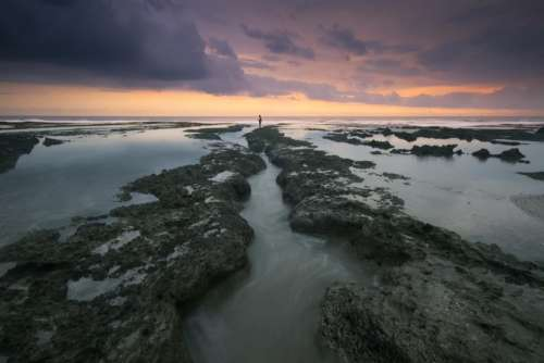 sea ocean rock formation landscape