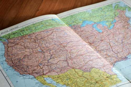 world map scrapbook paper travel