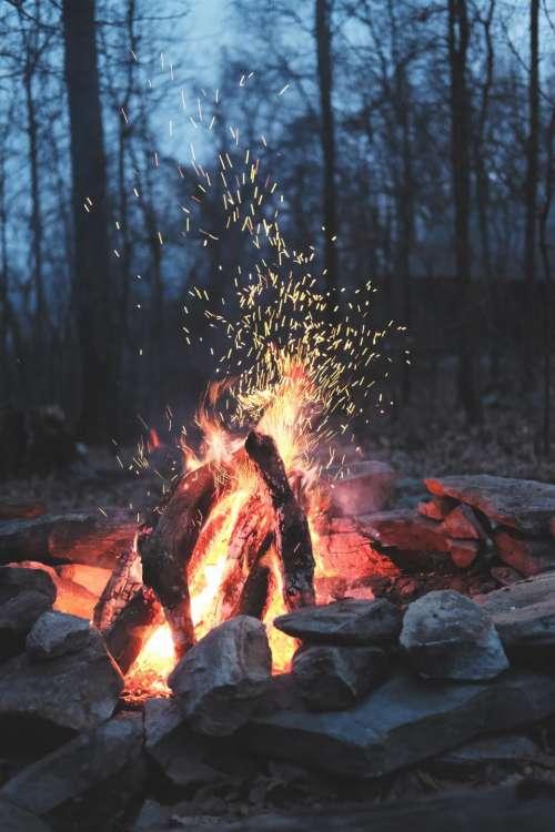 nature fire bonfire camp outdoor