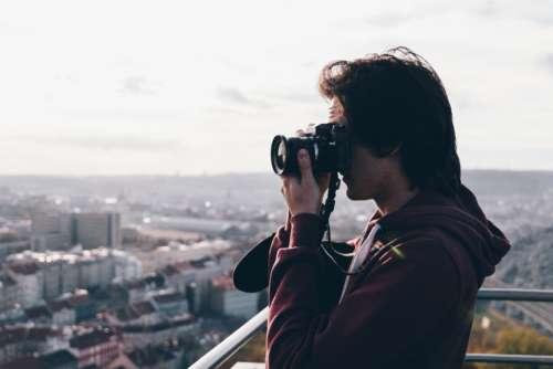 analog camera olympus boy man
