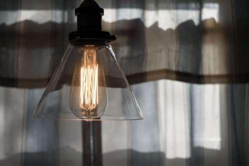 electricity light bulb lamp curtain