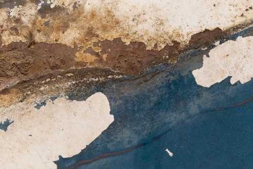 old rusty metal peeling paint