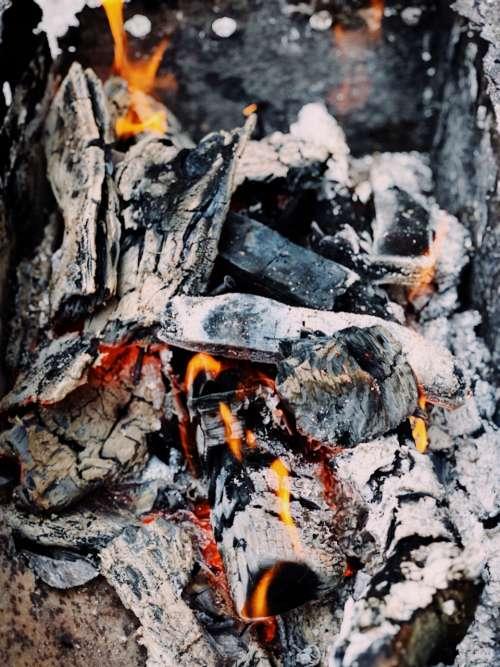close up campfire hot burn fire