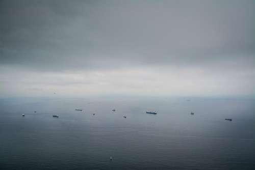 water ocean sea clouds sky