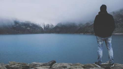 people man water river lake