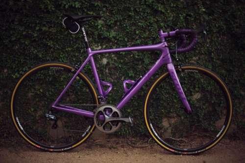 purple bike bicycle wheel travel