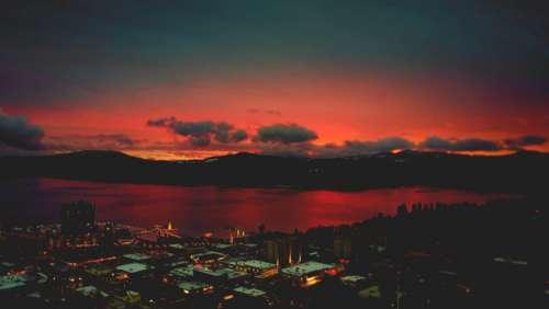city water sunset dusk reflection