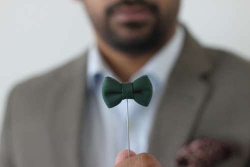 man green bowtie fashion style