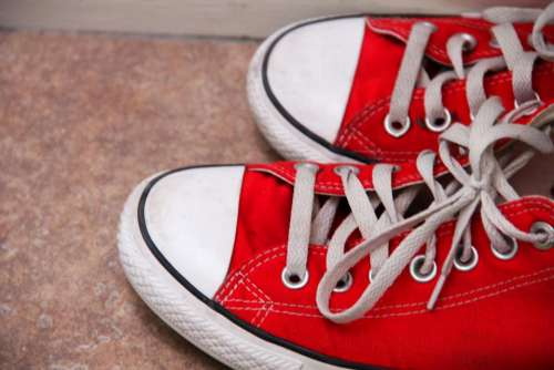 red converse shoes sneakers
