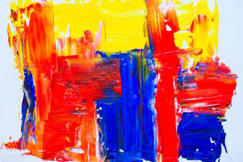 bright abstract painting background colorful