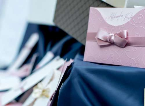 invitation card wedding design ribbon