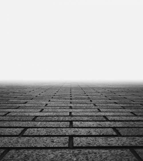 stone floor road black and white grayscale