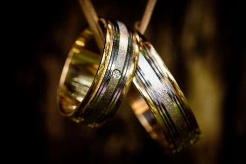 wedding ring engagement couple pair