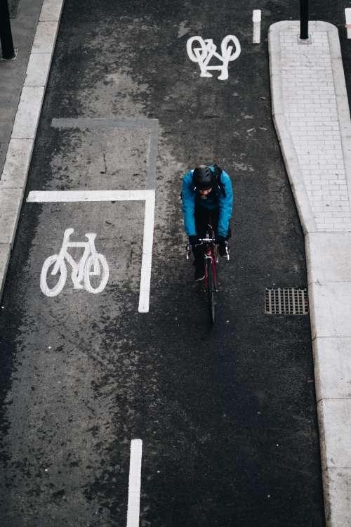 street road bike bicycle lane