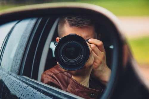 camera photographer photography lens mirror