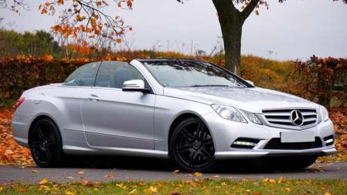 car vehicle luxury silver mercedes