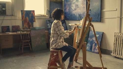 studio woman artist painter crafts