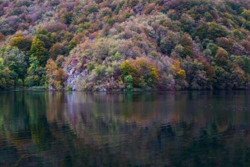 lake water nature mountain landscape