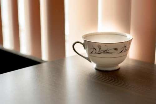 teacup ceramic table room curtain