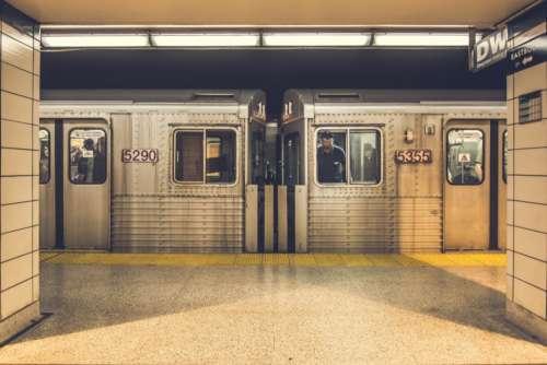 city subway train station conductor