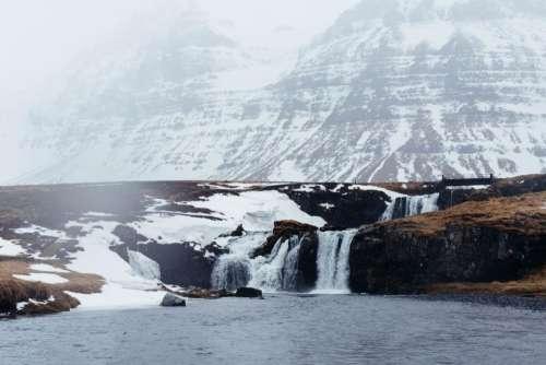 mountain travel adventure water falls