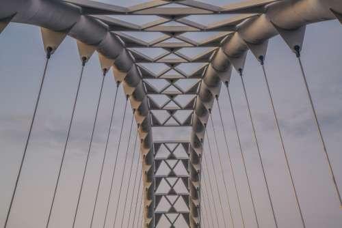 suspension bridge architecture modern style