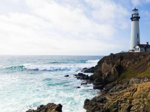 nature landscape coast cliff rocks