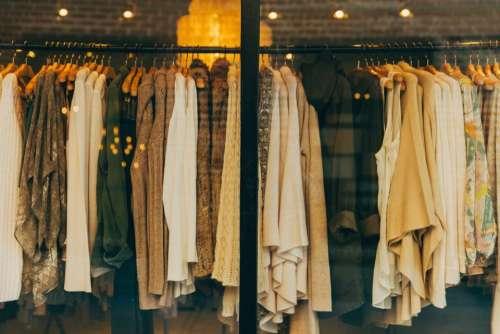 fashion clothes retail clothing rack