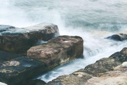 ocean rocks waves sea coast