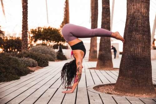 woman yoga pose female person