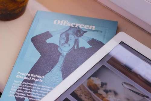 magazine reading tablet ipad technology