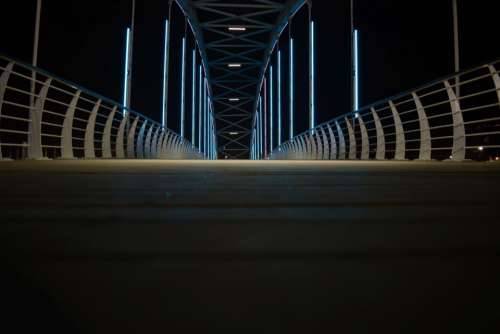 architecture bridge structure dark night
