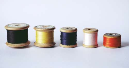 sewing reels thread vintage objects