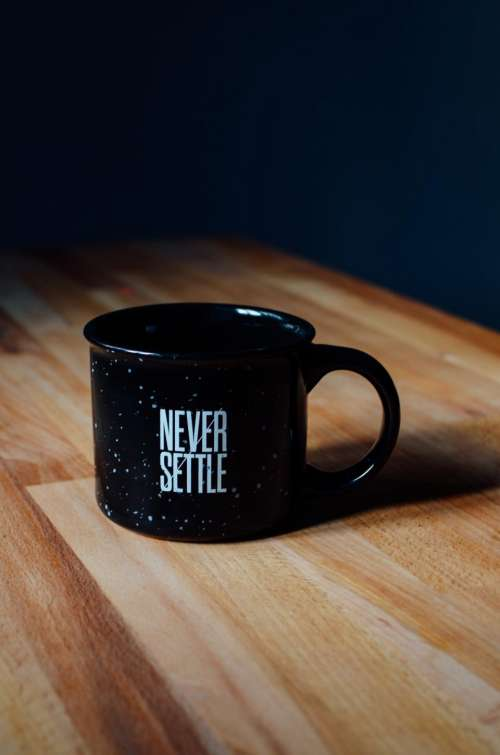 quote statement cup mug black