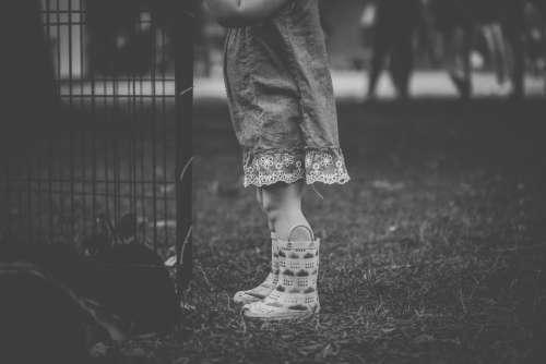 child boots monochrome garden kid