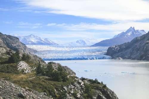 Glacier Grey, Torres Del Paine, Chile.