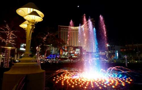 Outside Palazzo, Las Vegas Strip, USA