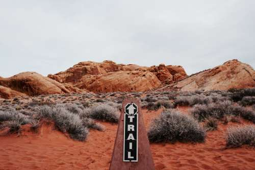 Start of the trail, Valley of Fire State Park, Nevada, USA