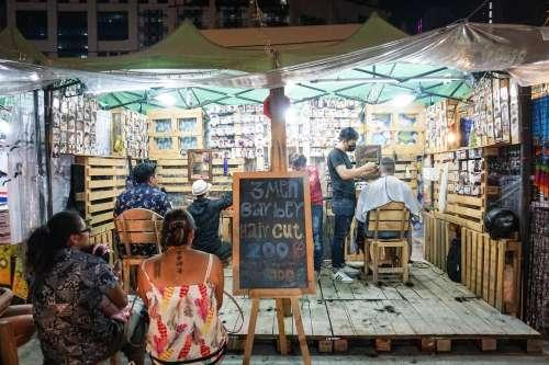 Barber, Bangkok, Thailand.