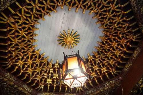 Traditional lamp, Jiang Xi, China.