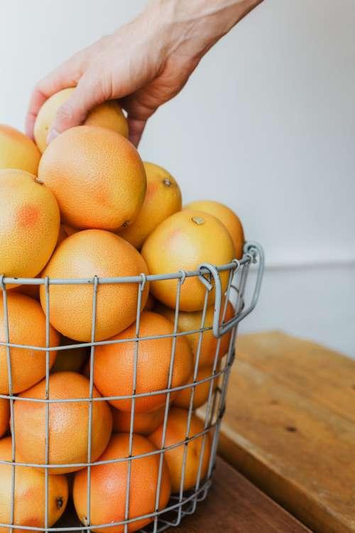 An Orange Basket Photo