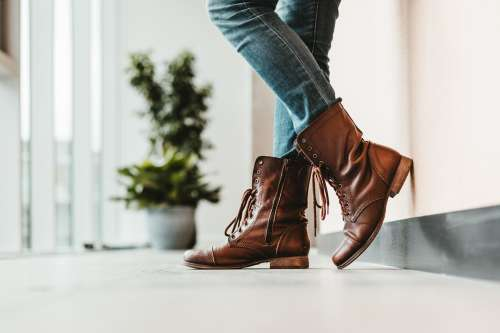 Boots Against The Wall Photo